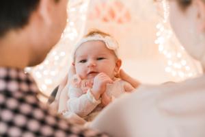 Neugeborenes mit Eltern